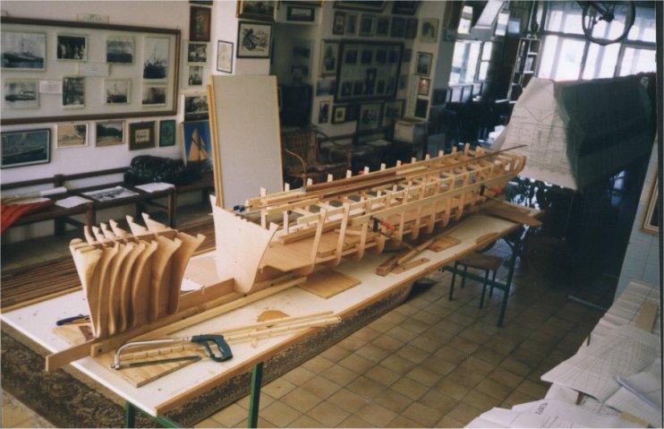 Ladja Rex, maketa, Marjan Kralj, leseno ogrodje